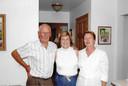 Vlnr Wim de Meester, Frances Keelan en Ria de Meester in 2007 in Chicago.