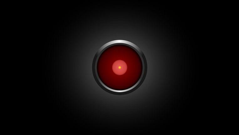 Screenshot van de moordzuchtige computer HAL 9000 uit de film 2001: A Space Odyssey. Beeld 2001: A Space Odyssey