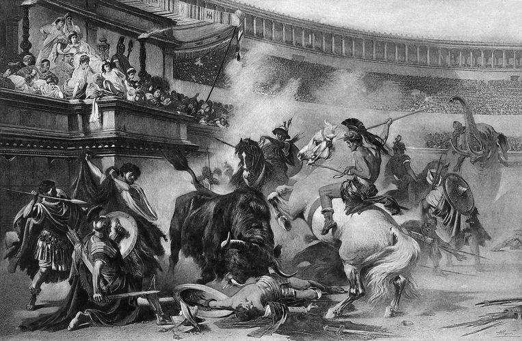 Gladiatoren zorgden voor vertier voor de armste onderdanen in het Romeinse rijk. Beeld Archive Photos