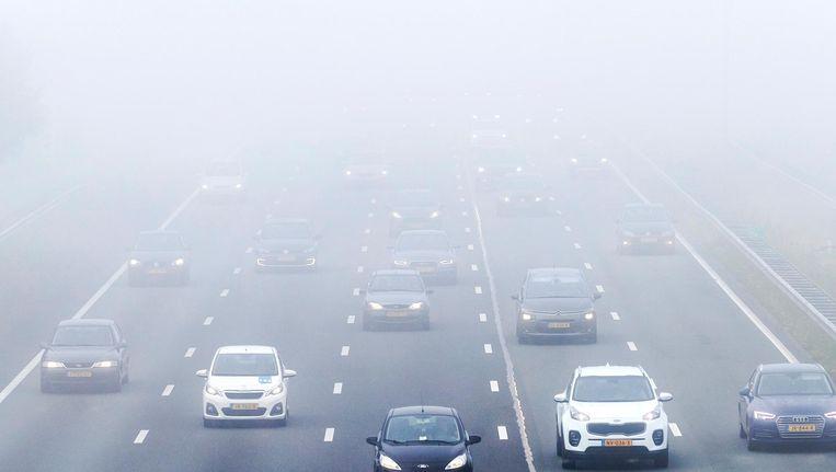 Er wordt gewaarschuwd voor dichte mist. Beeld anp