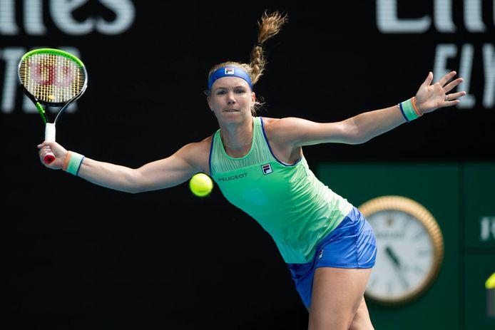 Kiki Bertens schopte het dit jaar tot de vierde ronde inde Australian Open, maar verloor van de uiteindelijk finalist Garbiñe Muguruza.