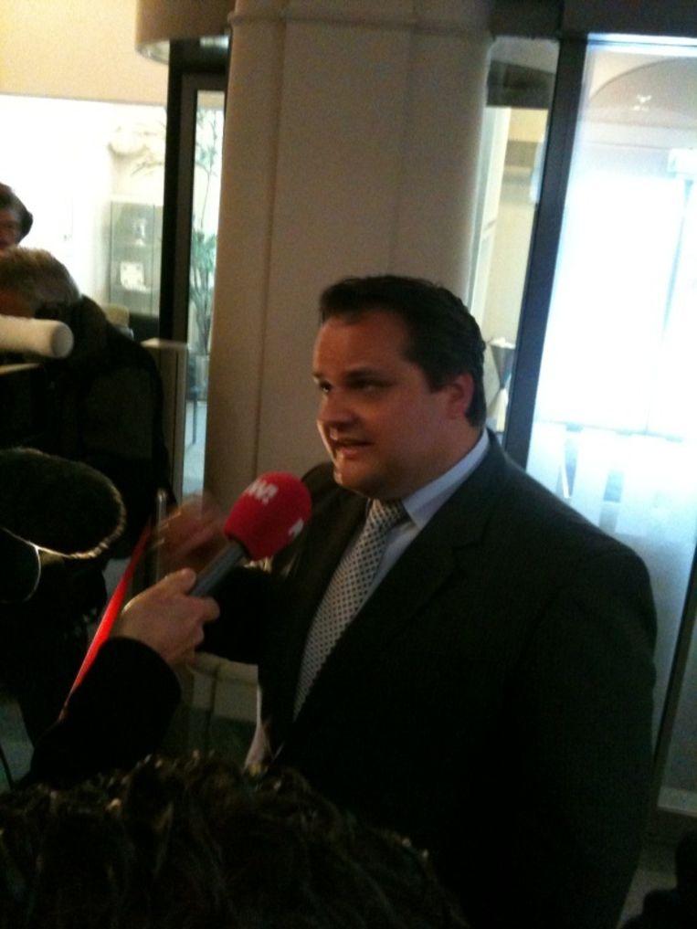Minister Jan Kees de Jager (Financiën) geeft een toelichting. Beeld Jan Hoedeman