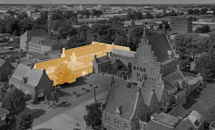 Het nieuwe schoenenmuseum van Waalwijk is gepland in het voormalige gemeentehuis aan het Raadhuisplein.