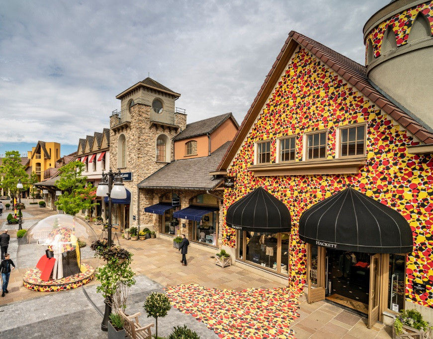 Maasmechelen Village est aux couleurs de la Belgique.