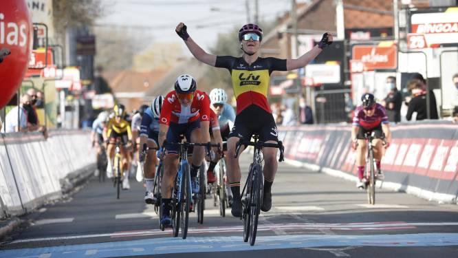 Lotte Kopecky sprint naar overwinning in GP Samyn