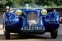 Eén van de Burtons, een sportwagen op het onderstel van een 'lelijke Eend'. Hier een elektrische variant.