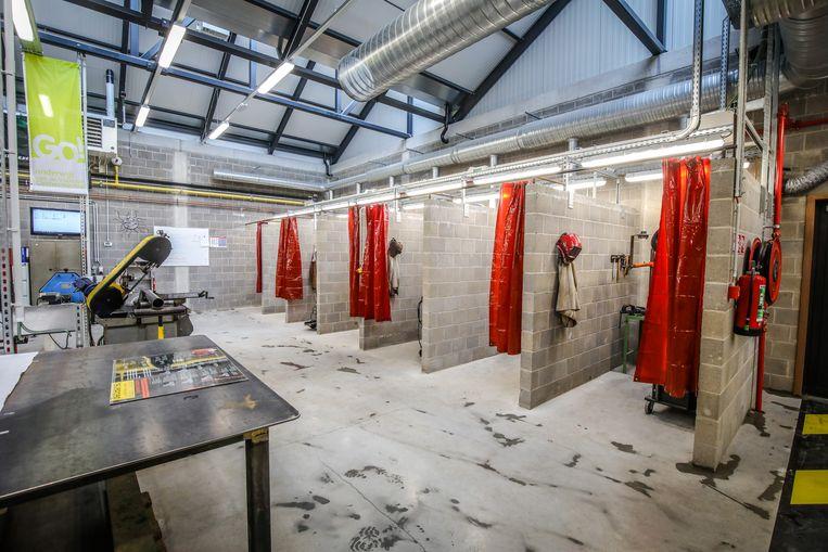 Brugge opening nieuwe lokalen de Varens: het laslokaal