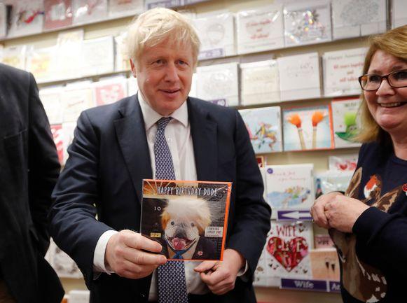 Premier Johnson voert volop campagne voor de parlementsverkiezingen van 12 december.
