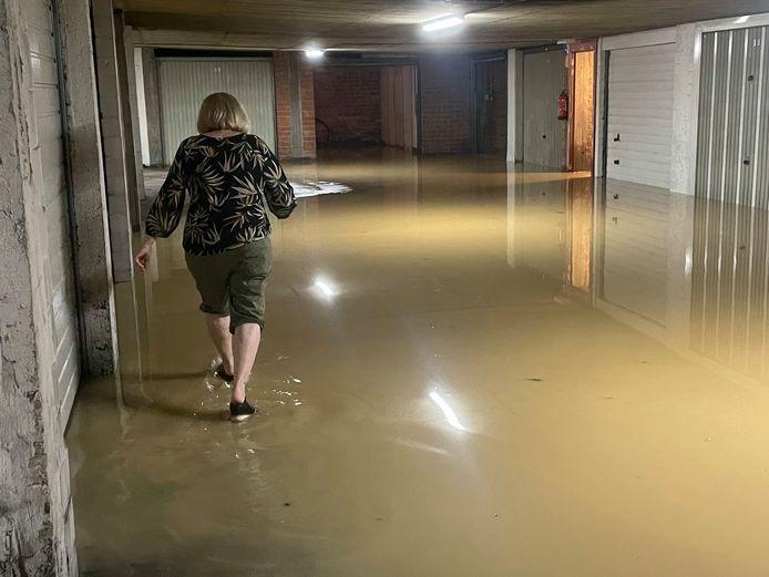 Wateroverlast in Sint-Truiden.