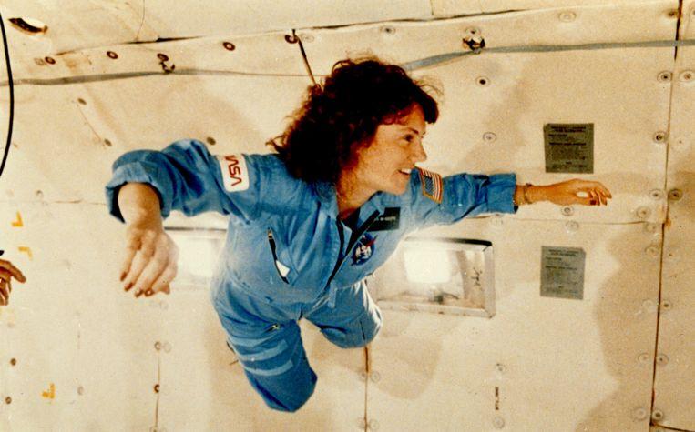 Lerares Christa McAuliffe werd in een half jaar klaargestoomd als astronaut. Beeld REUTERS