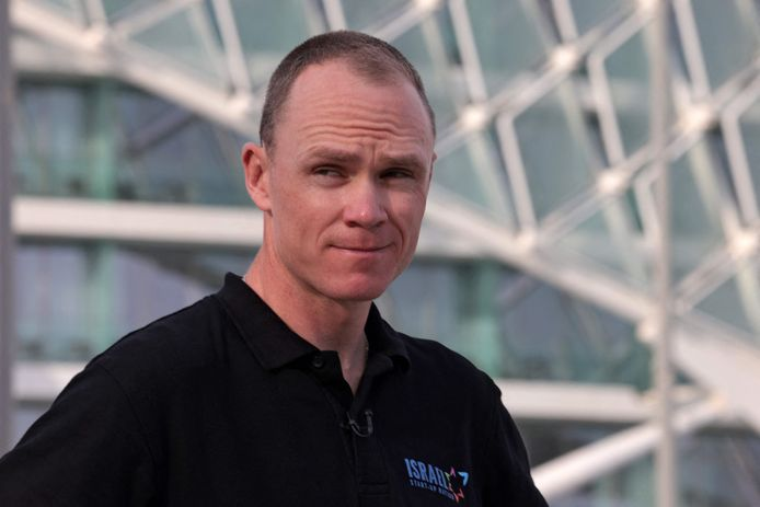 Chris Froome poses for a picture on the eve of the UAE cycling tour, on February 20, 2020, in Abu Dhabi. (Photo by GIUSEPPE CACACE / AFP)