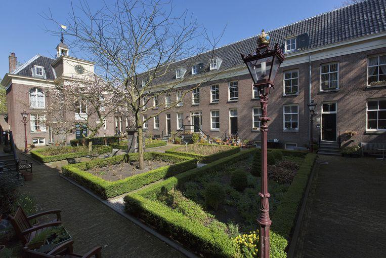 Het Zonsche Hofje aan de Prinsengracht. Beeld anp