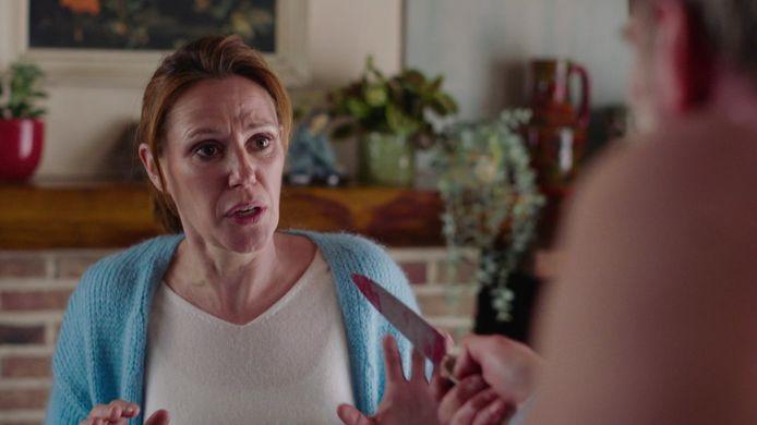 Dokter Judith staat doodsangsten uit in 'Thuis'.