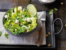 Wat Eten Wij Vandaag: Salade met heilbot en sojabonen