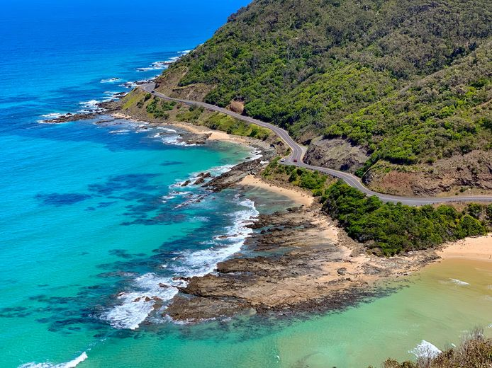 La Great Ocean Road, en Australie.
