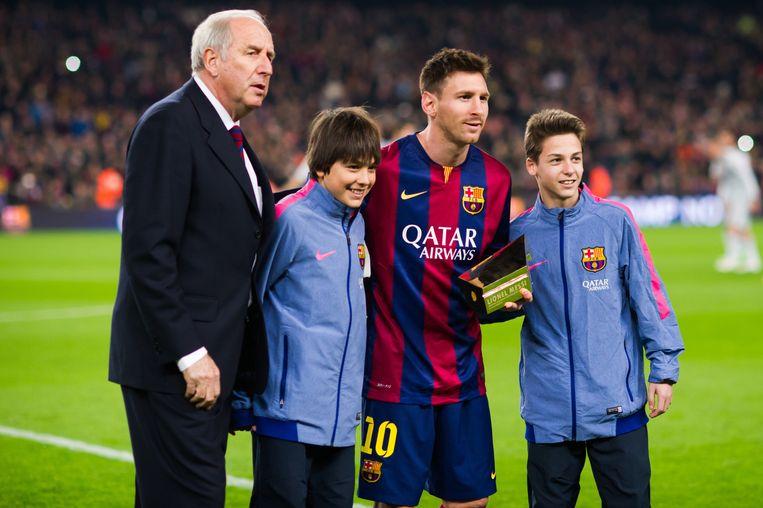 Rexach met Messi op de foto.