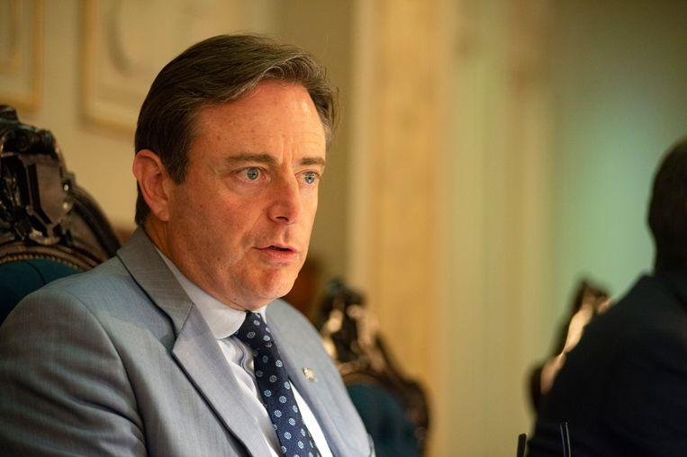 Bart De Wever tijdens de gemeenteraad in Antwerpen. Beeld Klaas De Scheirder
