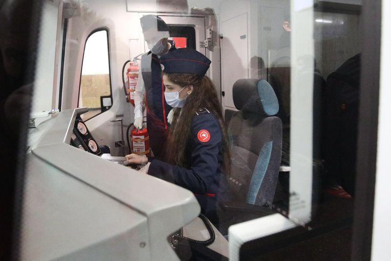 Voor het eerst mogen ook vrouwen nu metrobestuurder zijn in Rusland.  Beeld EPA
