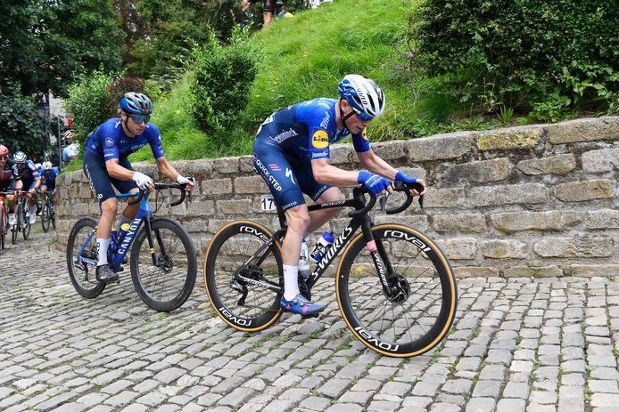 Stan Van Tricht reed voor het eerst de Muur op in een trui van Deceuninck-Quick.Step.