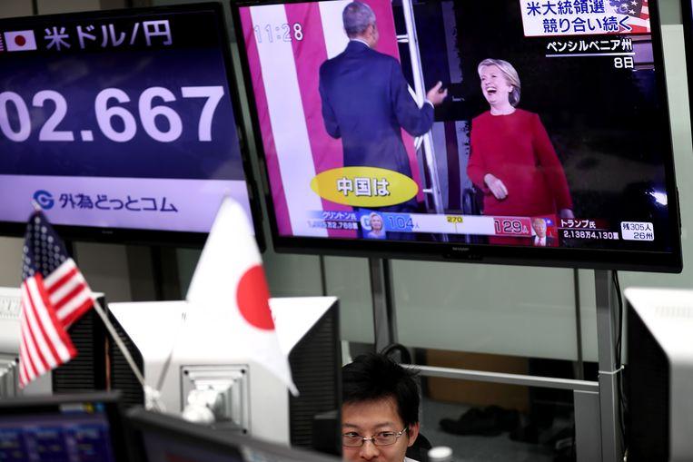 De beurzen in Azië volgen de verkiezingen op de voet.