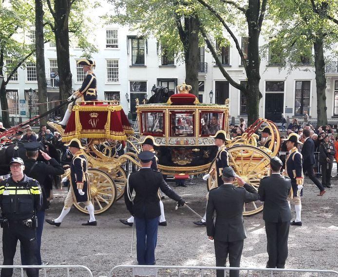De Gouden Koets komt aan in Den Haag
