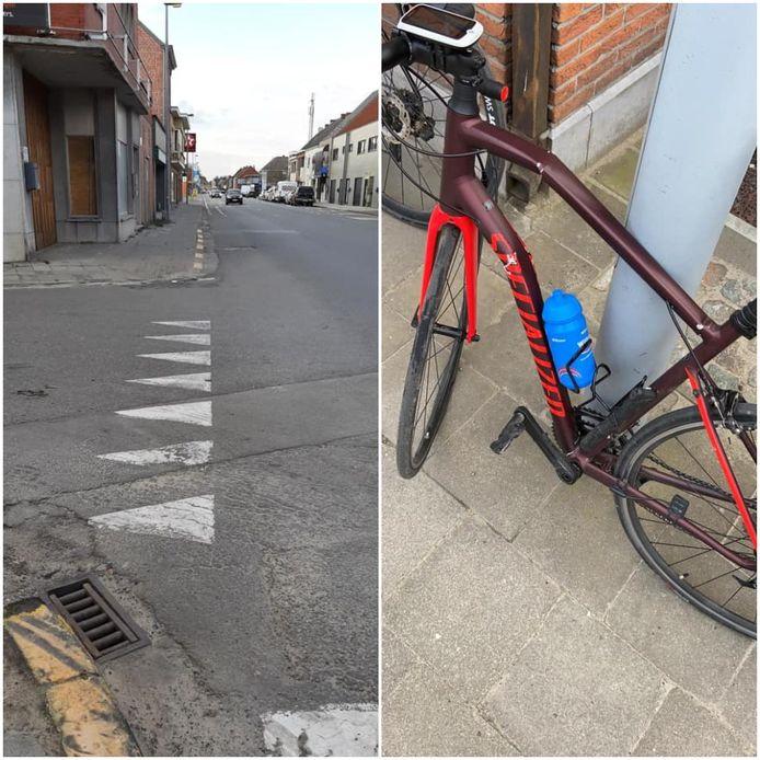 De aanrijding gebeurde op de Emiel Hertecantlaan in Berlare. De fiets van Samuel is volledig vernield.