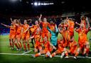 Oranje viert feest na het behalen van de WK-finale.