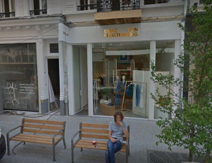 De winkel van Diane Von Furstenberg in de Steenhouwersvest.
