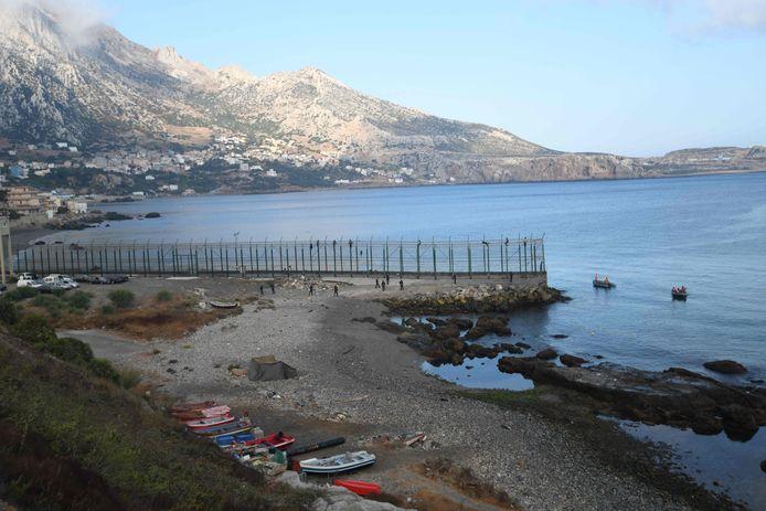 Frontière entre Ceuta (Espagne) et le Maroc (archives)