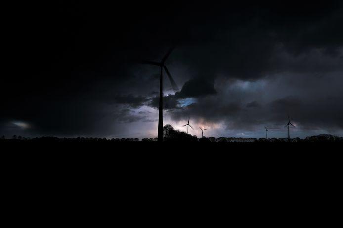 Windmolens tussen Aalten en Lichtenvoorde.