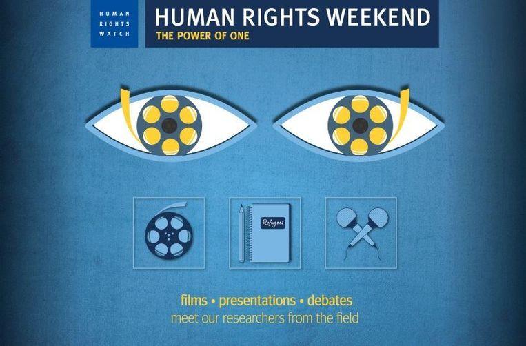 The Power of One is het thema van het Human Rights Weekend. Beeld Human Rights Watch