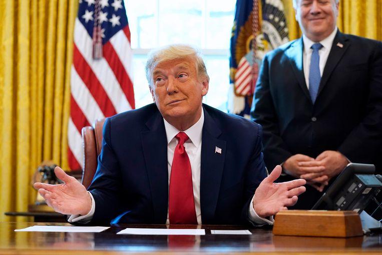 Donald Trump. Zijn ambtstermijn eindigt op 20 januari. Beeld   Alex Brandon / AP