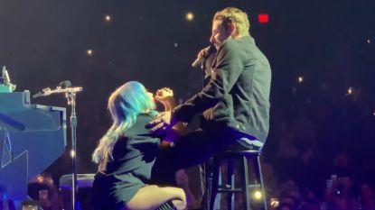 VIDEO. Verrassing van formaat: Bradley Cooper duikt plots op bij show Lady Gaga