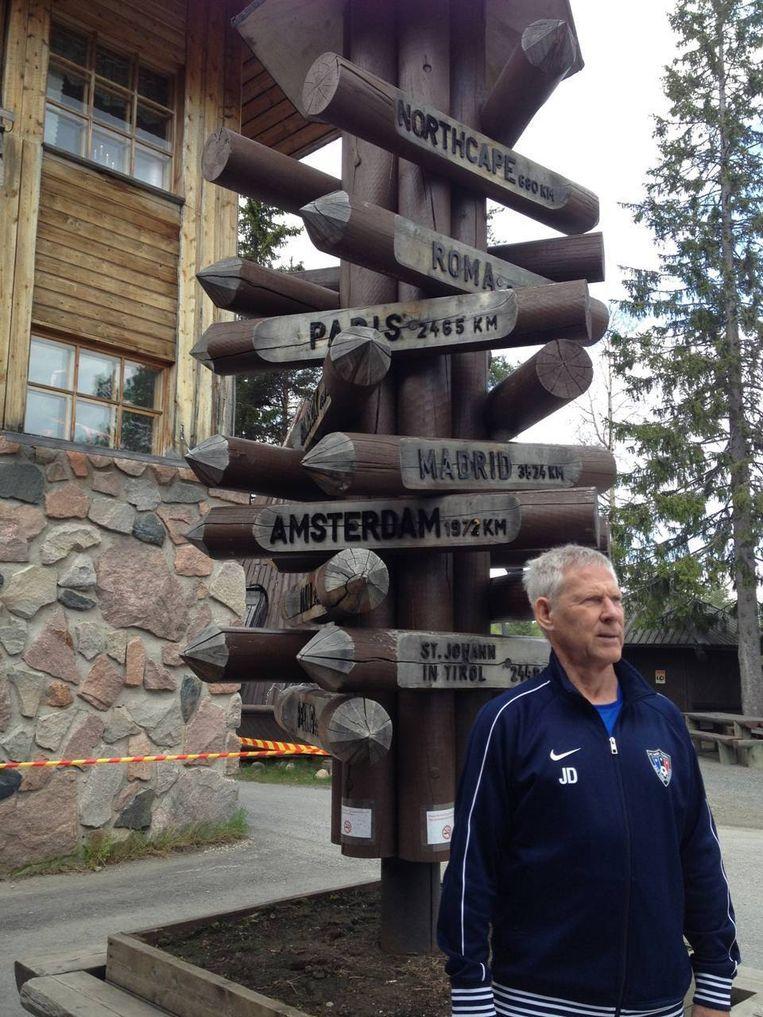 Job Dragtsma in Finland. Beeld -