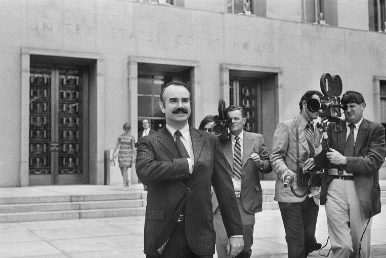 G. Gordon Liddy pleitte onschuldig, maar werd toch veroordeeld tot 20 jaar cel voor zijn betrokkenheid bij het Watergateschandaal.  Beeld Bettmann Archive