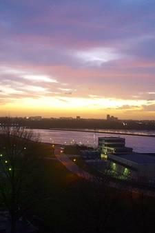 Prachtige zonsondergang in de regio