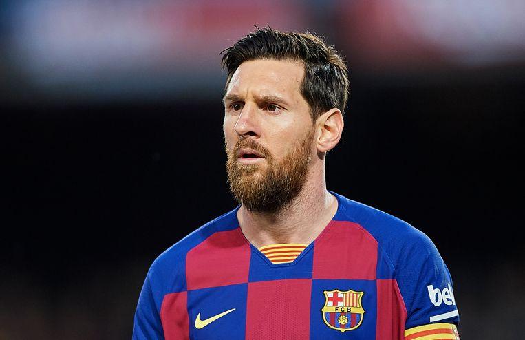 Lionel Messi (jaarsalaris: 48 miljoen euro bruto) steunt ziekenhuizen in Barcelona en Argentinië. Beeld Getty Images