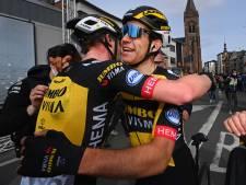 Van Aert looft ploeggenoot na winst Gent-Wevelgem: 'Hij was fantastisch sterk'