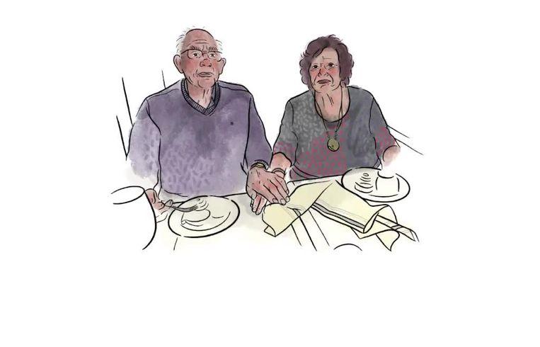 Liesbeth en David van Huiden-Hamburg. Beeld Ilse van Kraaij