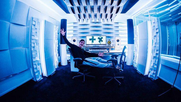 Martin Garrix in zijn oude studio GarrixLab Beeld Het Parool