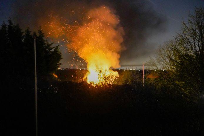 De brand bij de familie Van den Heuvel.