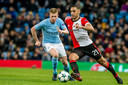 Sofyan Amrabat met Feyenoord in duel met Kevin De Bruyne.