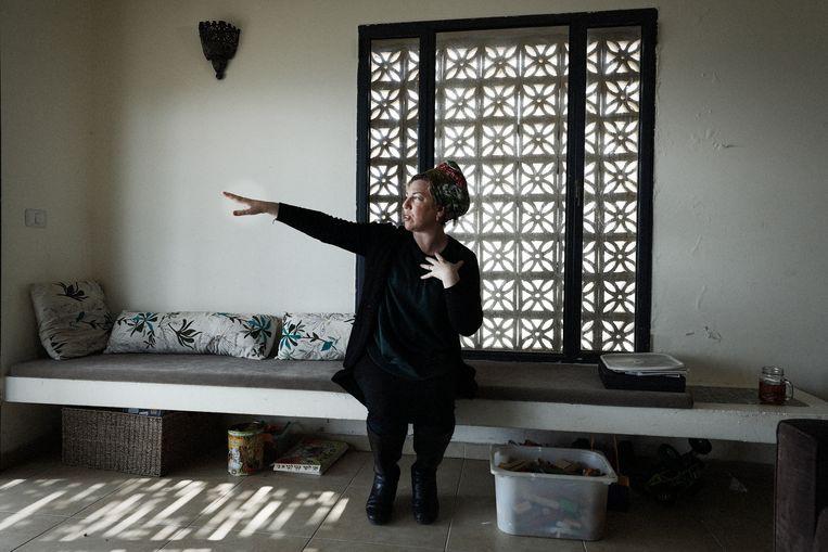 Eliana Passentin (geboren in San Francisco): 'We bouwen alleen op land dat van niemand is.'  Beeld Daniel Rosenthal