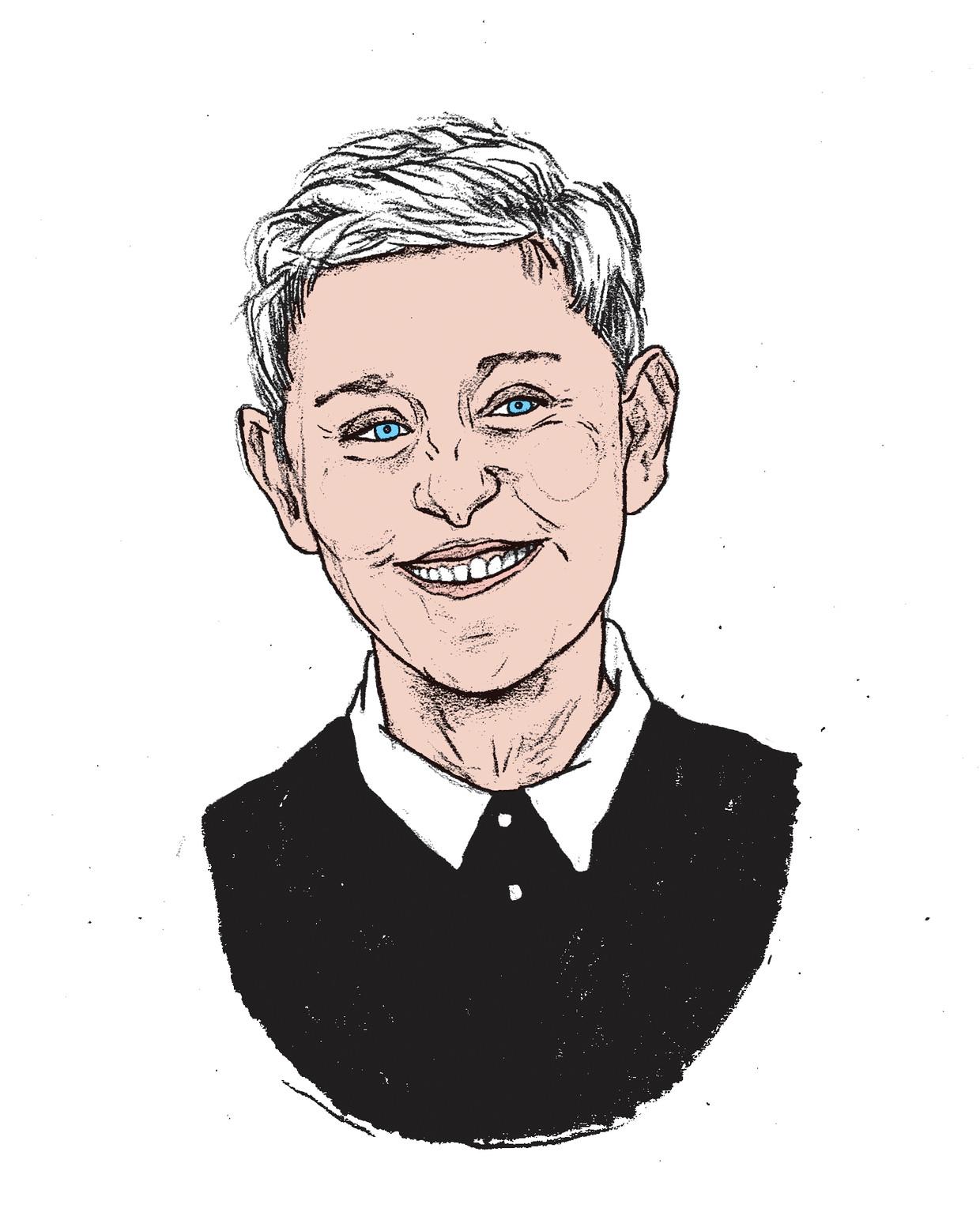 Ellen Degeneres: van vriendelijkste naar gemeenste vrouw ter wereld. Beeld Gijs Kast