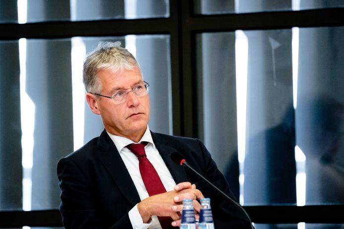 Minister Arie Slob (Media) deze week tijdens een Kamerdebat over media.