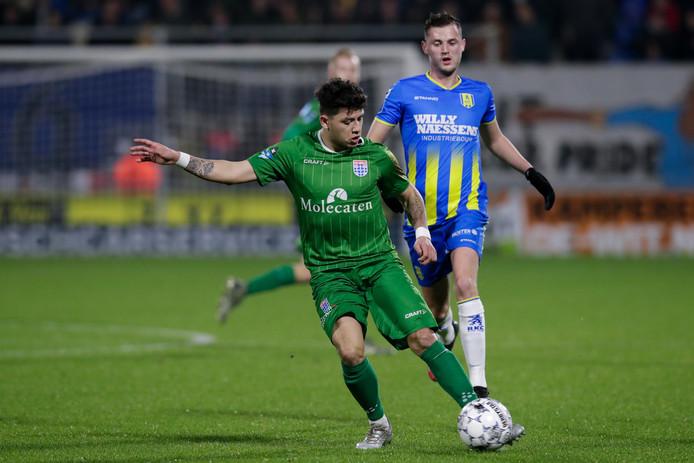 Gustavo Hamer in actie tegen RKC Waalwijk, vorige week zaterdag (0-0).