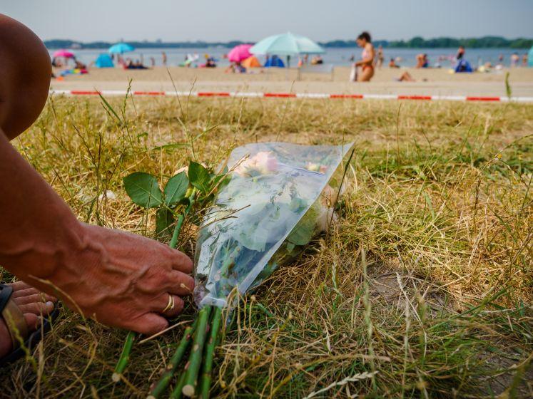 Gitzwarte dag op het strand van Nesselande: 'Het ging zo snel'