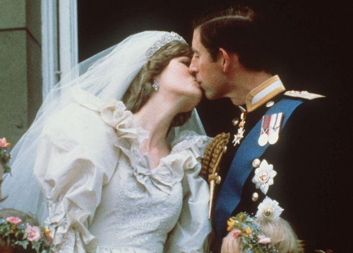 La princesse Diana et le prince Charles durant leur mariage en 1981.