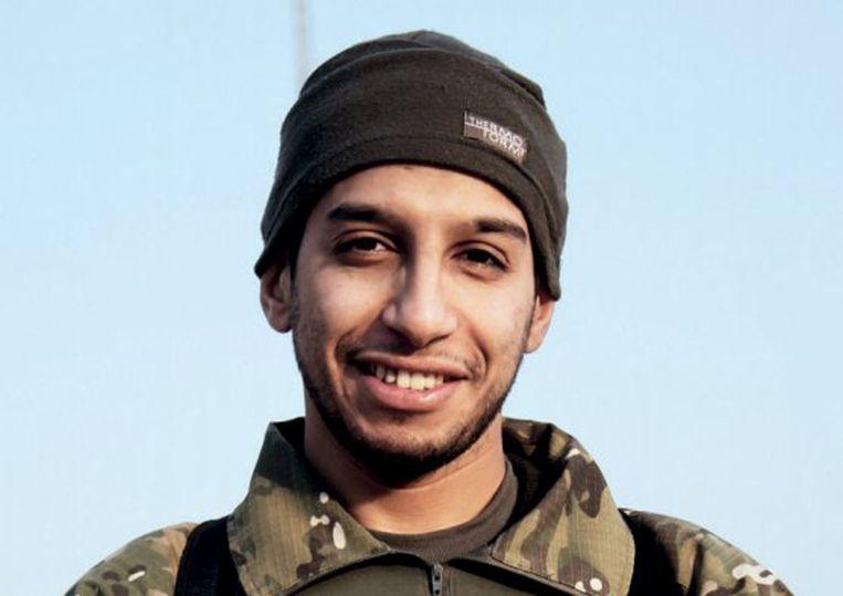 Abdelhamid Abaaoud op een propagandafoto van IS. Beeld reuters