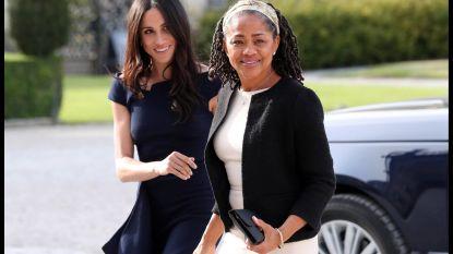 Stralende Meghan en haar moeder arriveren in chique Cliveden Hotel